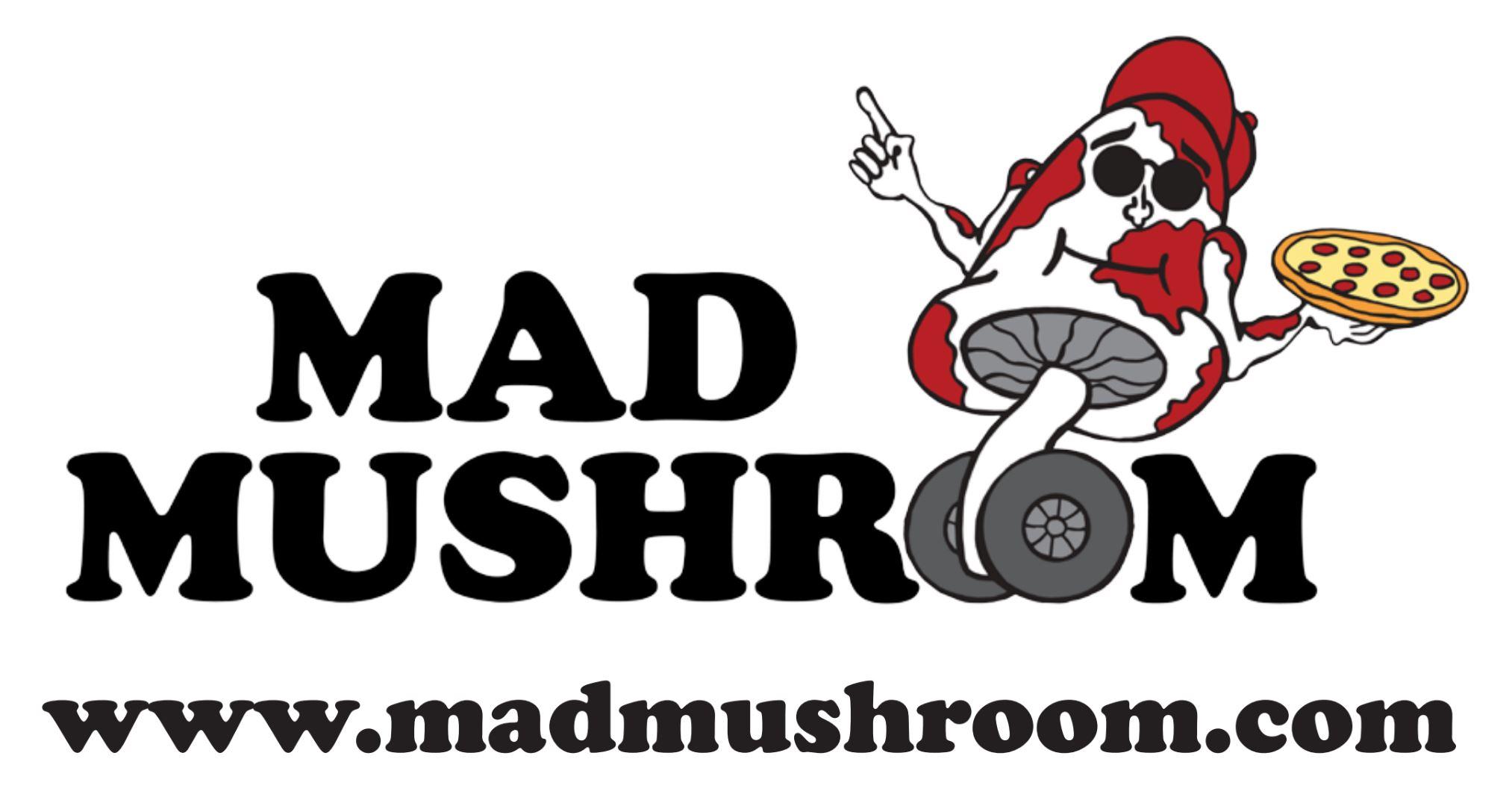 Image result for mad mushroom pizza logo